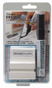 "35302 - Xstamper Secure Kit Small, Stamp & Marker Combo, Black ink, 1/2"" x 1-5/8"""