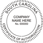 Certificate of Authorization - South Carolina<br>CERTAUTH-SC