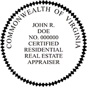 Certified Residential Real Estate Appraiser - Virginia<br>RESIDENAPPR-VA