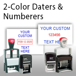 2-Color Daters & Numberers