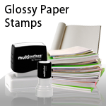 Glossy Paper Stamps