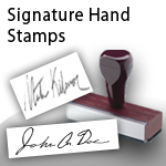 Signature Hand Stamps