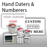 Hand Stamp Daters & Numberers