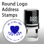 Round Logo Address Stamps