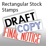 Rectangle Stock Stamps