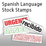 Spanish Language Stock Stamps