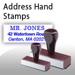 Address Hand Stamps