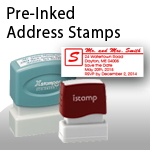 Pre-Inked Address Stamps