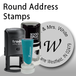 Round Address Stamps