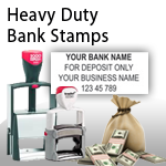 Heavy Duty Bank Stamps