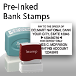 Pre-Inked Bank Stamps