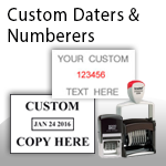 Custom Daters & Numberers