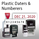 Plastic Daters & Numberers