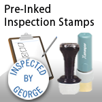 Pre-Inked Inspection Stamps