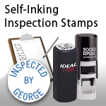 Self-Inking Inspection Stamps