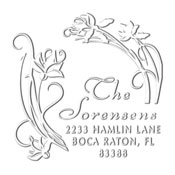Custom Floral Address Embosser