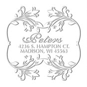 Custom Floral Bordered Address Embosser
