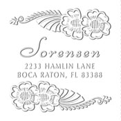 Custom Tropical Flower Address Embosser