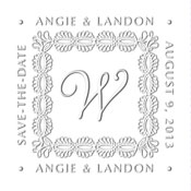 Custom Monogram Save The Date Embosser