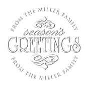 Custom Season Greetings Address Embosser