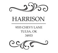 Custom Swirl Design Address Stamp