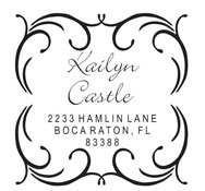 Custom Swirl Bordered Address Stamp