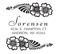 Custom Tropical Flower Address Stamp