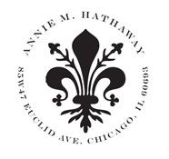 Custom Fleur-De-Lis Address Stamp