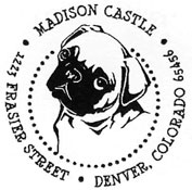 Custom Pug Dog Address Stamp