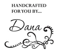 "Custom ""Handcrafted For You By..."" Stamp"