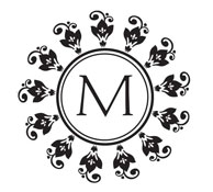 Custom Round Monogram Stamp