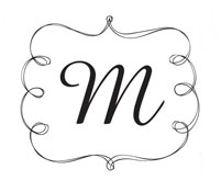 Custom Rectangular Monogram Stamp.