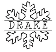 Custom Snowflake Monogram Stamp.